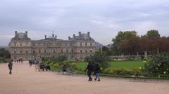 Jardins du Luxembourg Paris Stock Footage