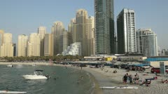 Jumeirah Beach activity Stock Footage