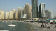 Stock Video Footage of Jumeirah Beach activity