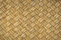 Thai-style bamboo wooden texture Stock Photos