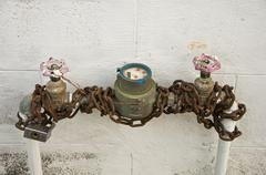 Water meter with chain Stock Photos