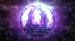 Beautiful Disco Ball Spinning seamless with flares. HD 1080. Stock Footage