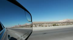 Driving car in Mojave desert - California - stock footage