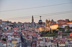 Cable car of porto (portugal) Stock Photos