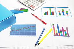 financial stat - stock photo