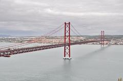 """25 de abril"" bridge of lisbon - stock photo"