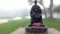 Monument to Prince Igor, Chernigov Stock Footage