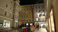 Mozart birthplace, Salzburg Stock Footage