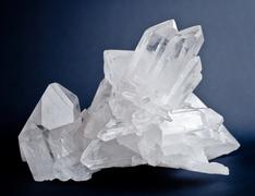 big quartz crystals - stock photo