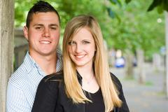 Fashionable young couple. Stock Photos