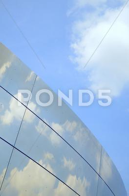 Stock photo of Reflective modern office building