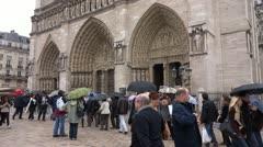 Cathédrale Notre-Dame de Paris Stock Footage