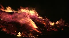 Fire close up Stock Footage