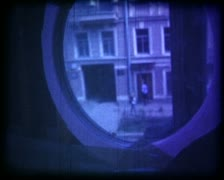 16mm 6  vintage film. animation, collage Stock Footage
