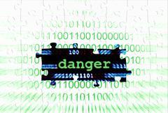 danger puzzle concept - stock illustration