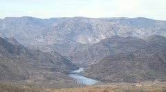 Lake Mead and mountains in Nevada near the Hoover Dam Stock Footage