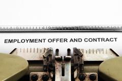 employment contract - stock photo