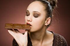 even more chocolate. - stock photo