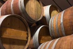 Barrels of south african wine Stock Photos