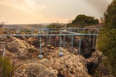 entrance to the cradle of humankind - stock photo