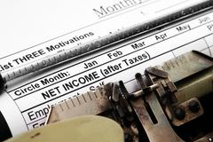 net income - stock photo