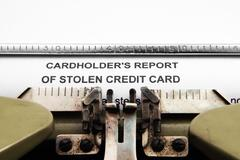 Stolen credit card report Stock Photos