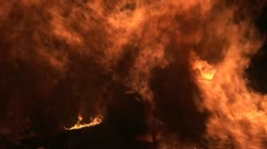 Fire and flames close up Stock Footage
