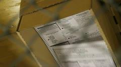Votes being machine tallied 2 Stock Footage