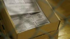 Votes being machine tallied 1 Stock Footage