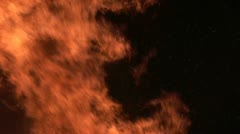 Flames in black background Stock Footage