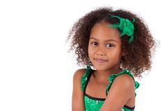 Cute young african asian girl Stock Photos