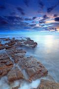 dorset kimmeridge bay - stock photo