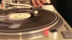 Record Turntable Stock Footage