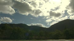 Timelapse Cloudy Mountain Stock Footage