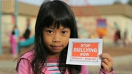Stock Video Footage of Stop Bullying Now Message-Close Up