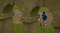 Exercising cyclist 3 Stock Footage