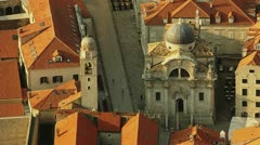 Church of St. Blaise, Dubrovnik Stock Footage