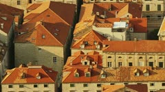 Dubrovnik old town panorama Stock Footage