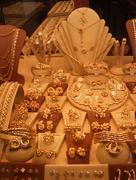 Golden jewellery Stock Photos