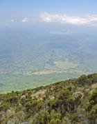 Virunga mountains aerial view Stock Photos
