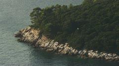 Island Lokrum Dubrovnik Stock Footage