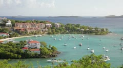 Stock Video Footage of Cruz Bay, St John, USVI