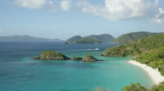Trunk Bay, St John, USVI (pan right) - stock footage