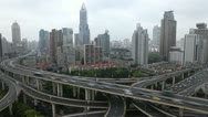 Time Lapse Business Skyscrapers Cars Passing Traffic Jam High Speed Drive Cars Stock Footage