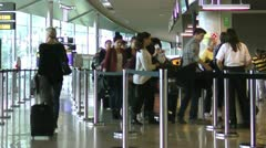 Airport Security - stock footage