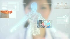 Montage Digital Touchscreen Exercise Fitness - stock footage