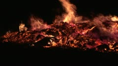 Fire in black background Stock Footage