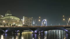 Panning time lapse of the Singapore harbor - stock footage
