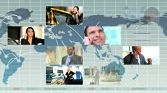 Montage of Multi Ethnic Business People Stock Footage