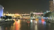 Stock Video Footage of Clarke Quay in Singapore time lapse